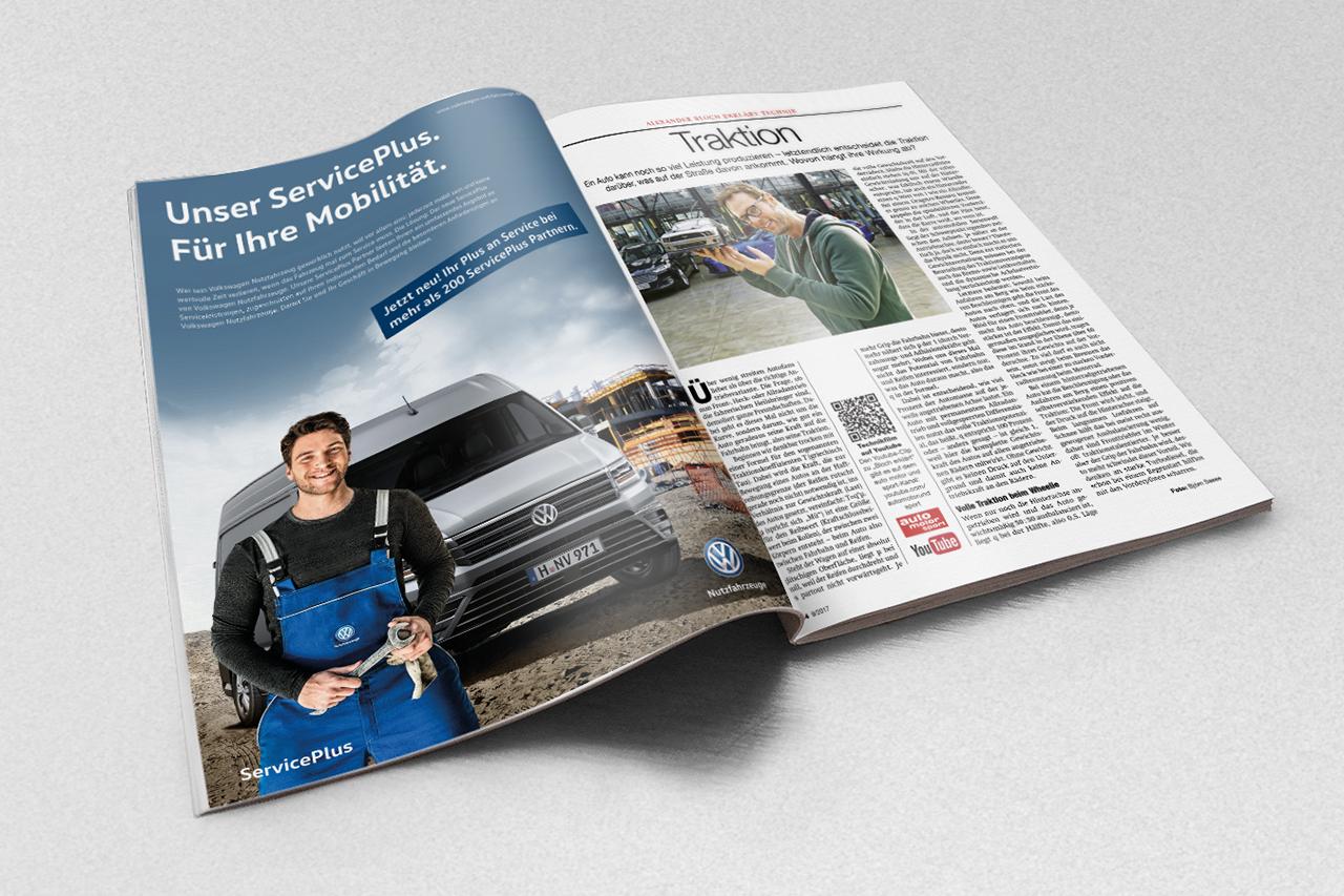 intonic werbeagentur vw nfz kampagne serviceplus herstelleranzeige